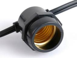 Strujni kabel za vanjsku upotrebu žarulje E27/15 komada IP65 vodootporno 14.4M fiksno grlo – Optonica