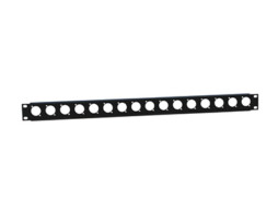 Rack panel, 19″, U-oblik, 16 rupa, 1U – Adam Hall