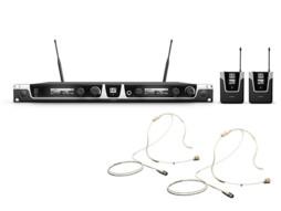 Bežični mikrofonski set s dva bež naglavna mikrofona 655 – 679 MHz – LD Systems  U506 BPHH2