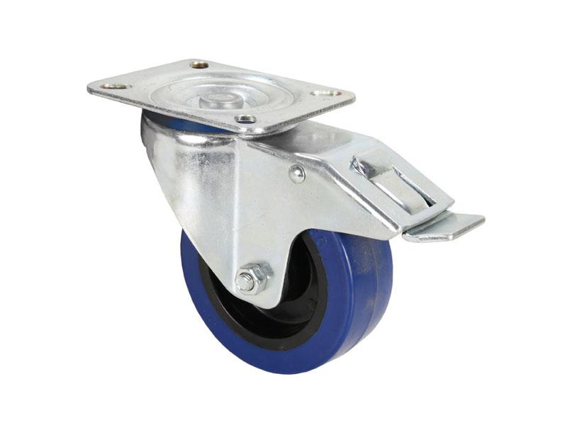 Kotač 100 mm, s kočnicom plavi za rack – Adam Hall