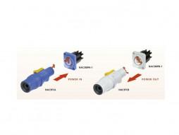 Powercon strujni  NAC-3FCB, za kabel,  izlaz, sivi – Neutrik