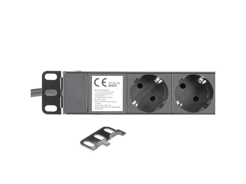 19″ distributor napona, 1U, 16A/250V, sa 8 utičnica – Adam Hall