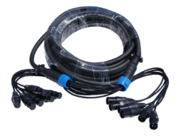 Gotovi kabel multikor 8 x XLR Ž na 8 x XLR M, 10m – X-Audio