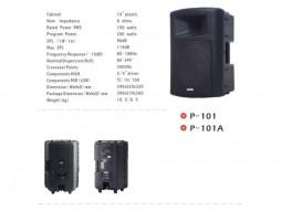 """Zvučna kutija P-101, 10"""" + 3/4""""Visoki, 100W RMS, 200W Program, plastična – Suim"""