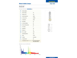 Žarulja NSK-200 (kao MSD-200), metal halid, 6000K, 13500 Lum, 2000 h, GY9.5 JENBO