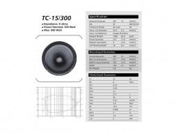 Rezervni bas zvučnik TC-15/300P, 15″ za P-153 – Suim