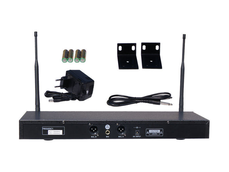 Bežični UHF set, uključuje 2 naglavna mikrofona, fiksne freq. 619,15 MHz/680,45 MHz – X-Audio
