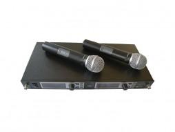 Mikrofon bežični UHF set 2mikrofona freq. 600-960MHz