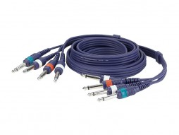 Gotovi kabel 4 banane/4 banane 6,3mm, Line/Instrument, 3m – DAP