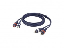 Kabel, gotovi, 2 RCA muški/2 RCA ženski, Line/Instrument, 1,5 m – DAP