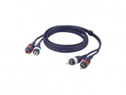 Kabel, gotovi, 2 RCA muški/2 RCA ženski, Line/Instrument, 3 m – DAP