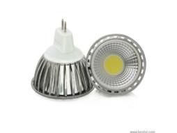LED žarulja, MR16, 5 W/12 V, 300 lm, COB, topla bijela 3000 K, dimabilna