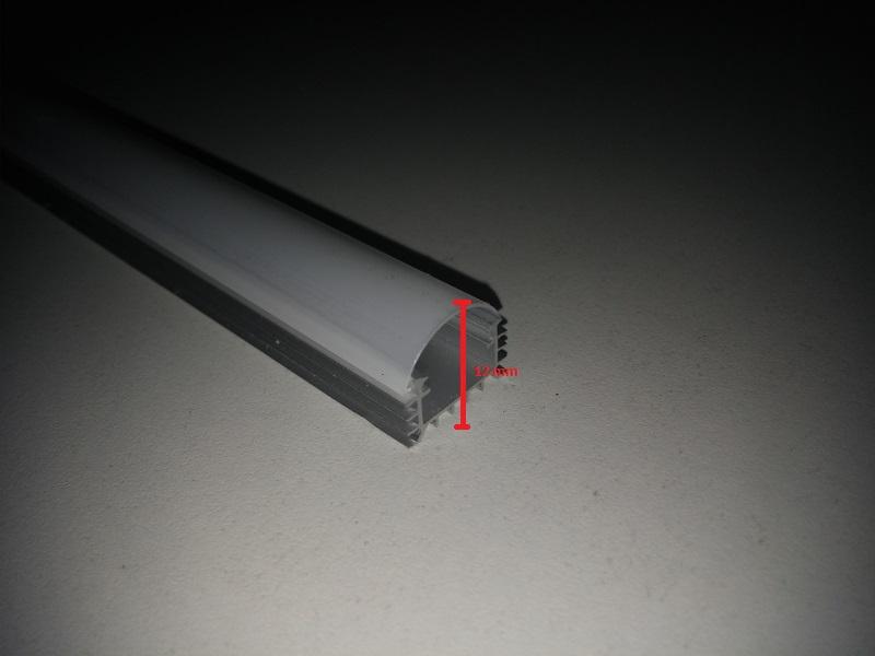 Alu profil s led trakom, mliječni plastični poklopac 3000K 1m 12x17mm