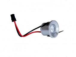 LED lampa, ugradbena, mini, 1×1 W, hladna bijela, bez napajanja