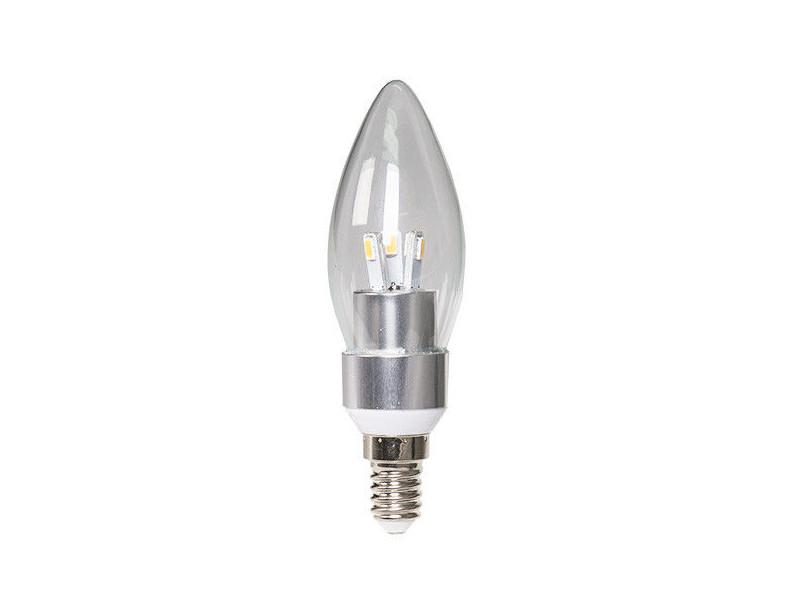 LED žarulja E14, 3W/220V 250lm topla bijela 3000K, prozirna