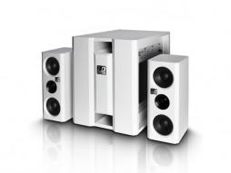 Razglas DAVE 8XSW, kompaktni aktivni PA sistem, bijeli – LD Systems