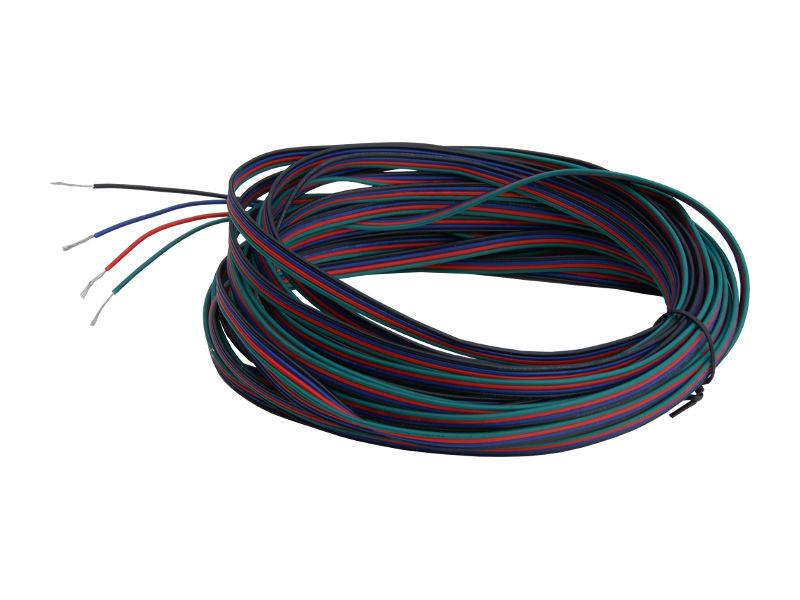 Kabel 4 žile (4 boje) BRG+ za LED traku
