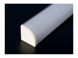 Aluminijski profil za LED traku ALP-10, kutni, 2 m + frost pokrov