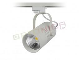 LED unutarnja track lampa  25W COB bijelo kućište, hladno bijela – Optonica