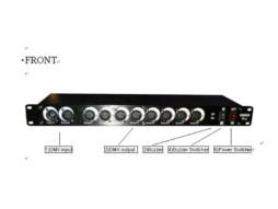 DMX spliter 8 PRO, 1 ulaz, 8 izlaza