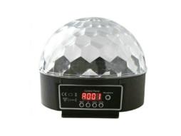 LED kugla 6x3W, RGB, DMX, auto, zvuk – IDEAL