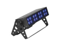 LED Reflektor UV, 16x3W, DMX, strobo efekt