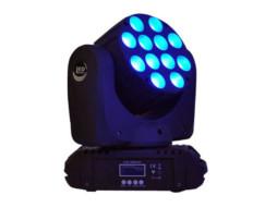 LED Moving Head, 12x10W 4in1, DMX 15 ch