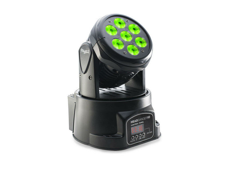 LED Moving head, 7 x 10W, 4 in 1, RGBW