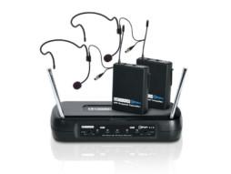 Mikrofonski set LDWSECO2X2BPH1, 2 beltpacka i 2 naglavna mikrofona, 863.100 / 864.500 MHz – LD Systems