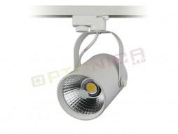LED unutarnja track lampa  12W COB bijelo kućište, toplo bijela – Optonica