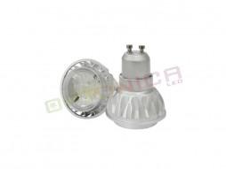 LED žarulja GU10 7W/220V COB hladno bijela – aluminij – Optonica
