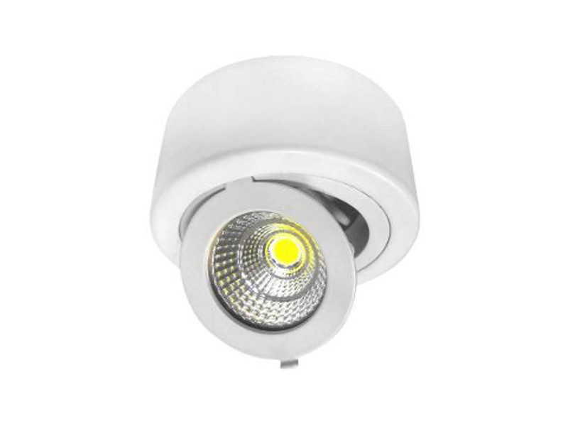 12W LED COB SURFACE downlighter  okrugli, prilagodljiv, toplo bijela – Optonica