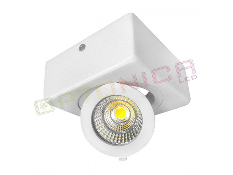 12W LED COB SURFACE downlighter  četvrtasti, prilagodljiv, hladno bijela – Optonica