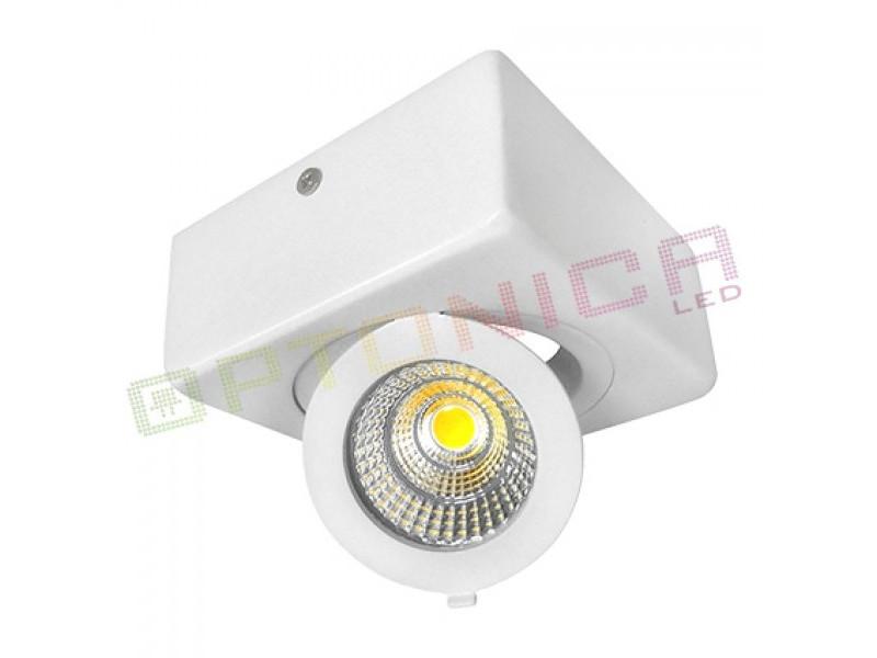 12W LED COB SURFACE downlighter  četvrtasti, prilagodljiv, toplo bijela – Optonica