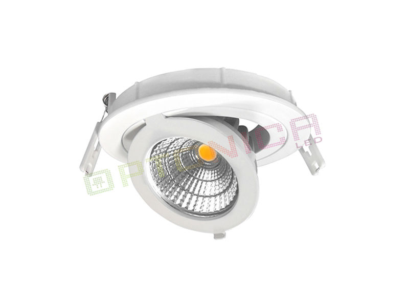 LED downlighter 12W, okrugli prilagodljiv topla bijela – Optonica