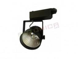 LED unutarnja track lampa  12W COB crno kućište, hladno bijela – Optonica