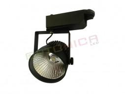 LED unutarnja track lampa  12W COB crno kućište, toplo bijela – Optonica