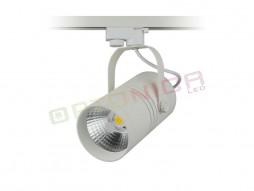 LED unutarnja track lampa  25W COB bijelo kućište, toplo bijela – Optonica