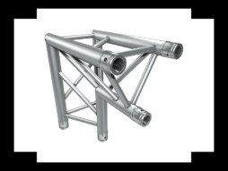 Alu konstrukcija, trokutasta, kut, 2 smjera, 90°, 29 cm, stijenka 2 mm – Milos