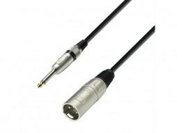Gotovi kabel, mikrofonski, XLR muški na 6,3mm muški, mono, 1m – Adam Hall