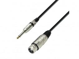 Adam Hall Gotovi kabel mikrofonski, XLR Ž / Jack mono 3m
