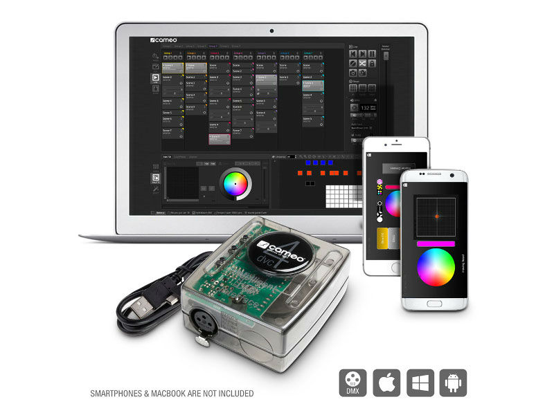 Cameo Interface, USB na DMX, 512 kanala + softver