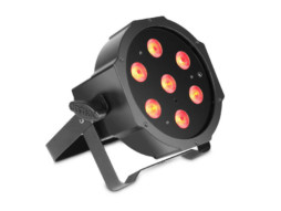 Cameo LED reflektor PAR, 7x3W RGB, IR, flat