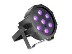 Cameo LED reflektor PAR, 7x3W, UV, flat