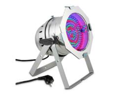 Cameo LED reflektor PAR 64, 183x10mm LED RGB, srebrni