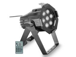 Cameo LED reflektor Studio mini PAR, 7x4W, topla bijela/hladna bijela, crni