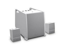Zvučnički sustav s pojačalom i miksetom CURV 500, Bluetooth (RMS Subwoofer 300W, Array Satellites 2x160W) bijeli LD system