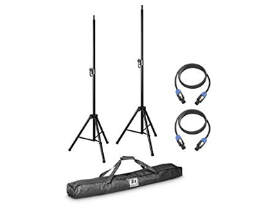 SET dva zvučnička stalka + torba za stalke + 2 zvučnička kabela za DAVE 8 – LD Systems
