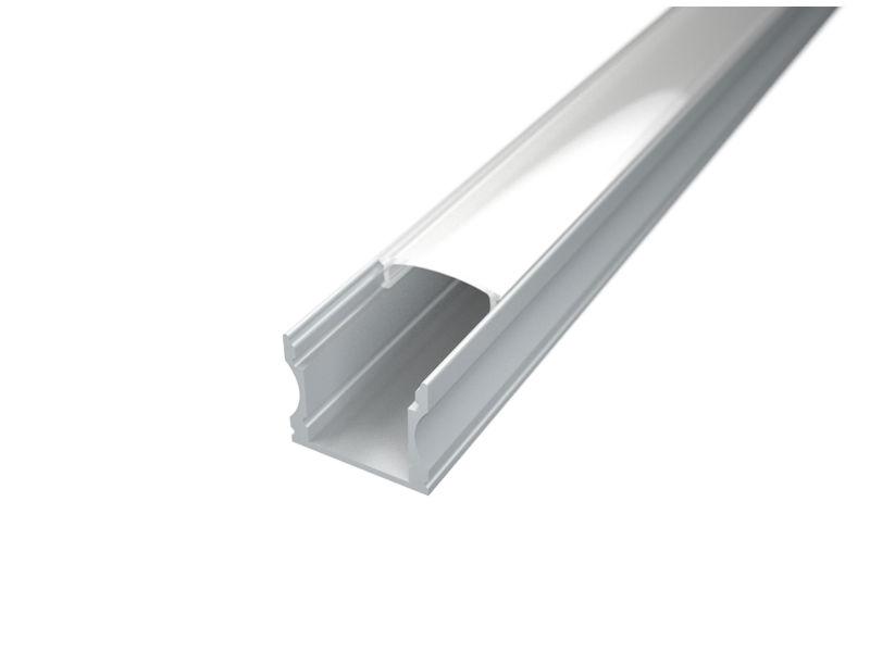 LED profil Surface 2, prozirni pokrov 2m