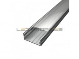 LED profil Surface 3, prozirni pokrov 2m
